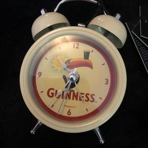 NWT Guinness Twin Bell Alarm Clock